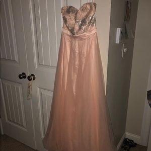 Sz 0 pink prom dress